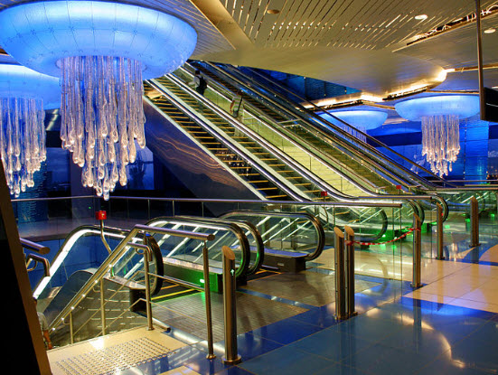 Dubai Metro Station with NFC Technology
