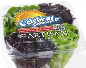 QR Code on Packaging for food