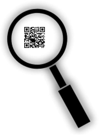 Nearly invisible qr codes