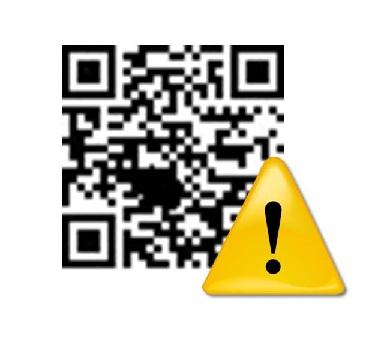 qr codes caution