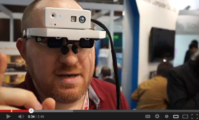 Augmented Reality Goggles gesture recognition