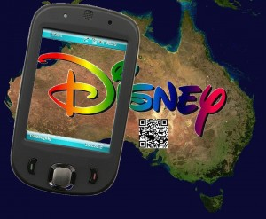 Australia Disney QR Codes Mobile Marketing