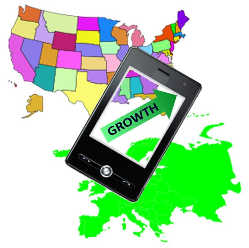 U.S. and Europe Mobile Commerce Growth
