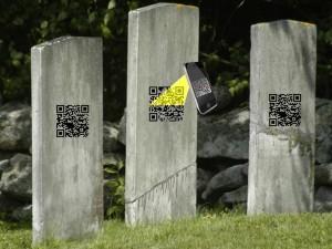 QR codes on tombstones