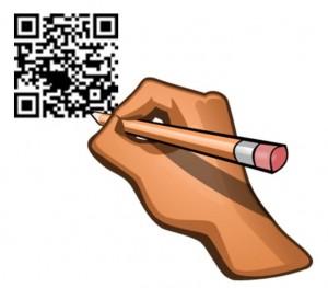 QR codes drawn by hand