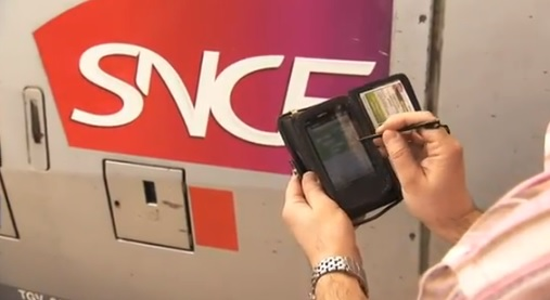 Mobile payments on French trains