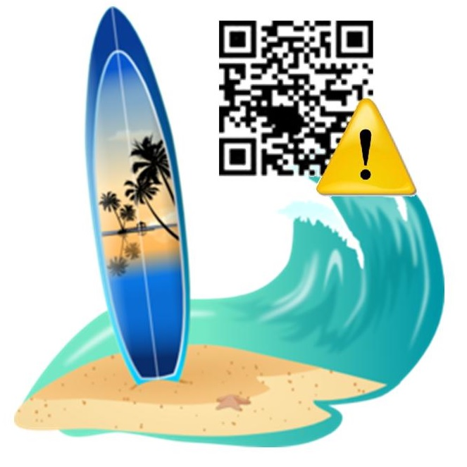 QR codes warn of danger