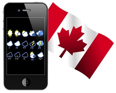 Canadian Smartphone Trends - Wheather app