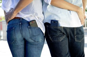 mobile phone in pockets