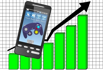 Mobile games revenue going up