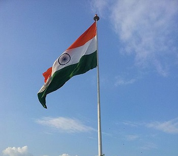 Mobile Commerce - Flag of India