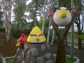 Mobile Gaming - Angry Birds - Image from amusement park