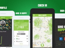 Who is happy geolocation mobile app