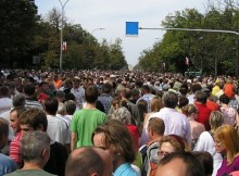 Mobile Security - Large Crowd of People
