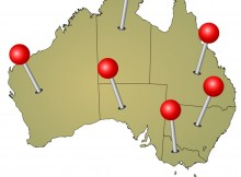 Australia geolocation location based spacial data collection