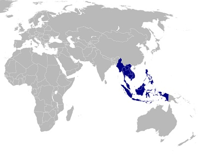 Mobile Commerce - Map of the Association of Southeast Asian Nations