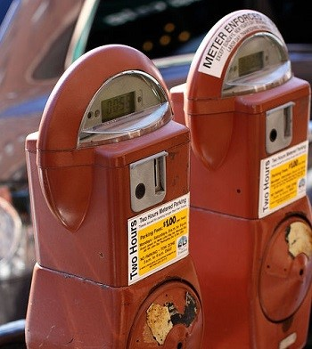 Mobile Security - Image of parking meters