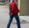 USB Battery Pack - Image of student with backpack