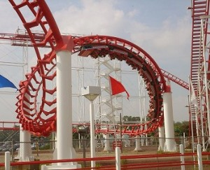 Virtual Reality - Roller Coaster at Six Flags