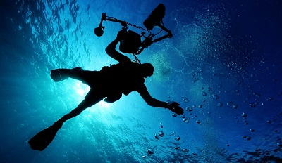 Underwater Augmented Reality - Image of Diver