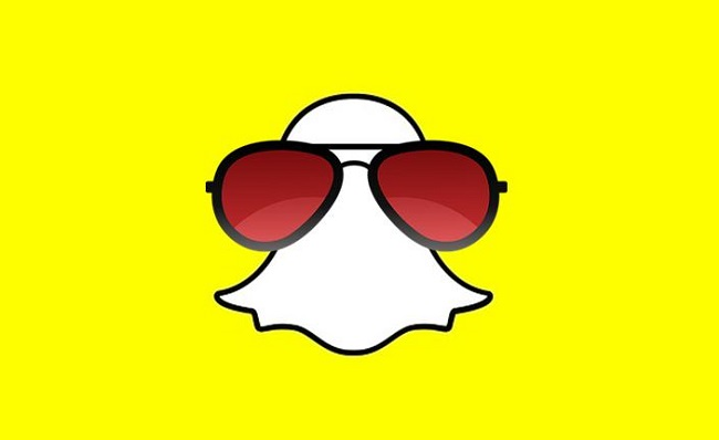 Augmented Reality headset - Snapchat Logo with Glasses