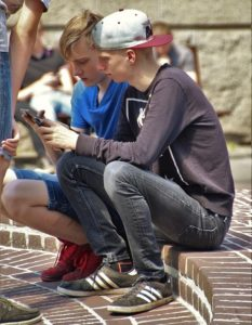 No Mobile Security - Students with mobile phone