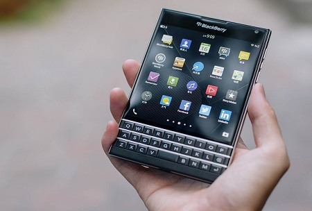 Blackberry branded smartphones - Image of Blackberry Passport phone
