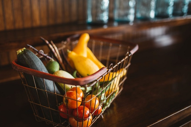 Mobile Grocery Shopping - Basket of Food