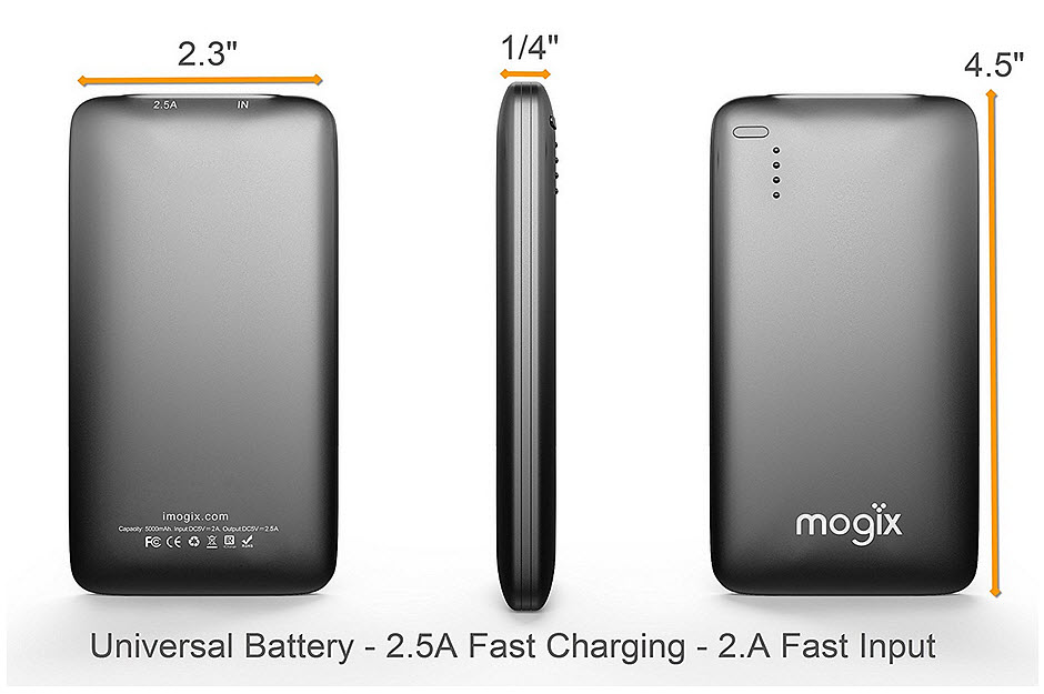 portable phone charger size